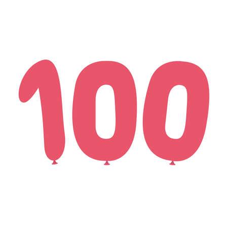 100 points exam score, isolated on white background. Vector illustration Иллюстрация