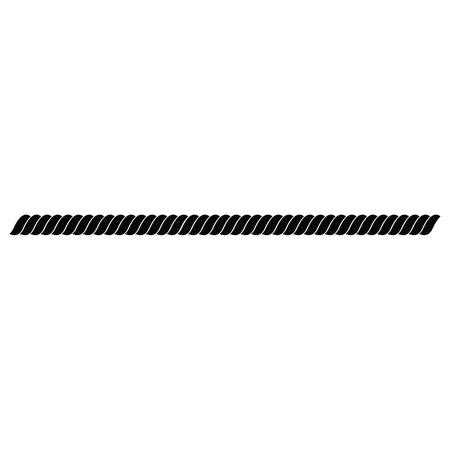 black rope on white background vector illustration. Иллюстрация