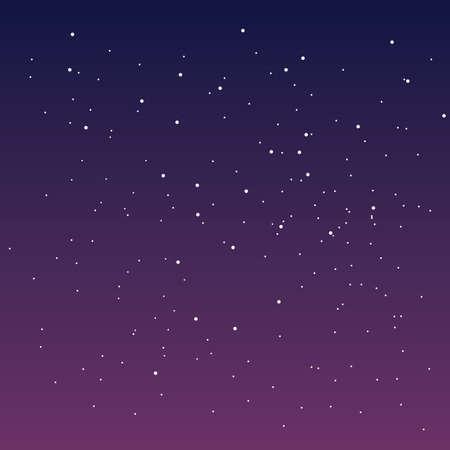 Spectacular sky with stars. Starry sky, sunset sky. Vector illustration