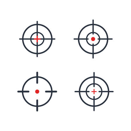 Simple Line Icon set, target business sign. Vector Illustration