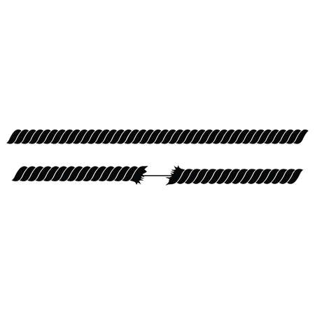 black rope on white background vector illustration