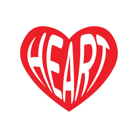Heart icon on white background vector illustration best quality