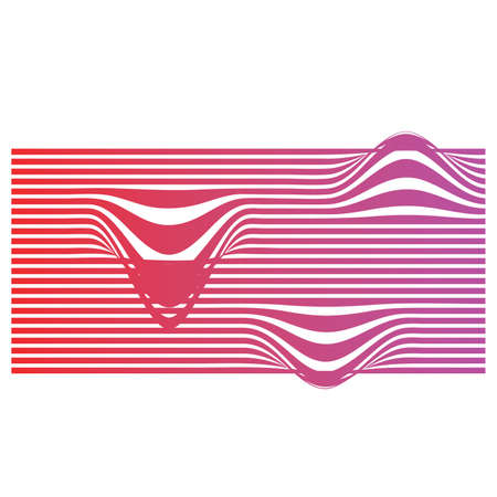 Abstract background with line pattern vector. Japanese wave template in oriental style.