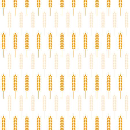 Vector image of wreath from ripe wheat ears Иллюстрация