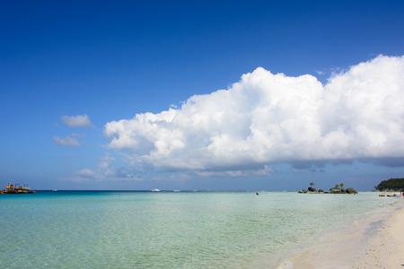 boracay: White Beach Boracay, Philippines Stock Photo
