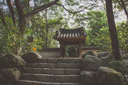marzahn: Korean Garden in Guangzhou City Park, China Stock Photo