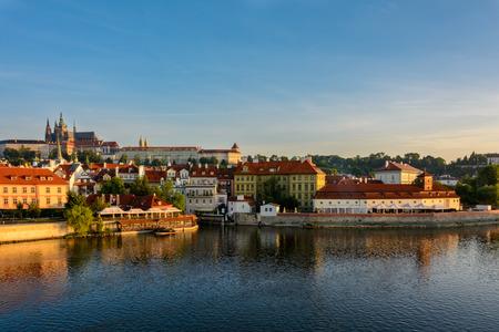 Prague at sunrise, Czech Republic