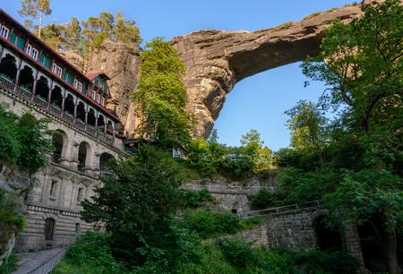 're: Pravcicka gate (Pravcicka brana) in Bohemian Switzerland National Park, Czech Republic