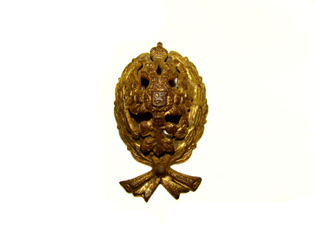 the buttonhole.badge of the law.worn by judges under the tsarist regime. Stock fotó