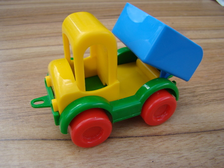 machine made: toy machine for children made of plastic Stock Photo