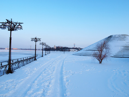 embankment: Dnepropetrovsk,embankment of the right Bank of the Dnieper river,city centre. Stock Photo