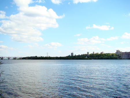 right bank: Dnipropetrovsk view of the right Bank of the city