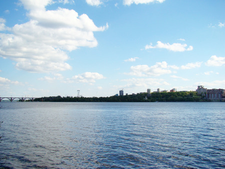 right bank: Dnepropetrovsk view of the right Bank of the city across the Dnepr river