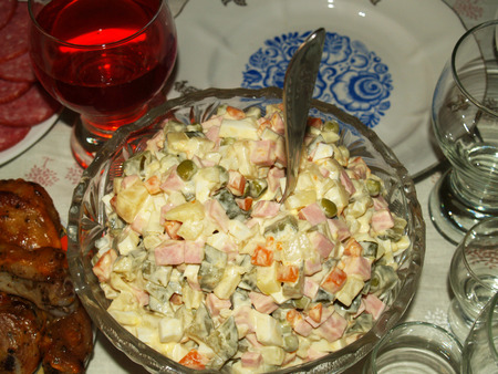 creator: Olivier salad is the name received in honor of its Creator, chef Lucien Olivier