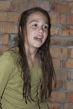 girl with wet hair close-up Standard-Bild - 131915189