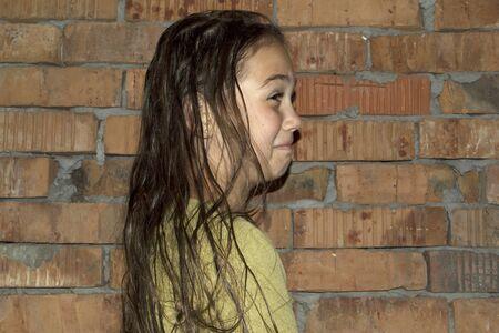 girl with wet hair close-up Standard-Bild - 131915378