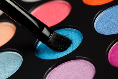 Eyeshadow with color palette photo