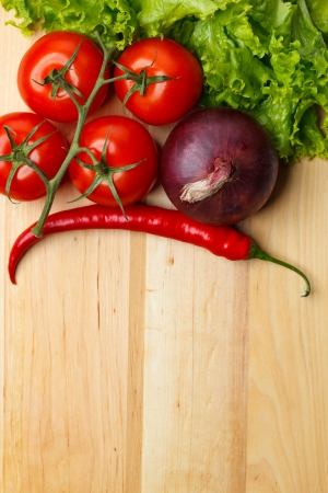 Vegetable on table Stock Photo - 14973500