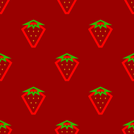 abstract strawberry on a red background Illustration