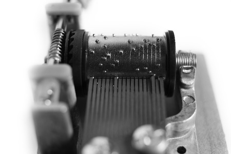 Musicbox placed on white background Stock Photo