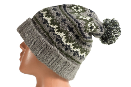 Winter hat on a mannequin isolated Stock Photo