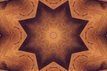 octagonal: modelo del caleidoscopio de Brown con la estrella octogonal