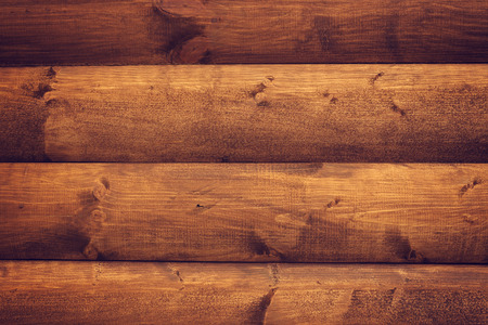 barnwood: Brown wooden horizontal boards background. Part of house wall. Stock Photo