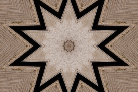 Oriental kaleidoscope fractal made of star shape. Abstract pattern