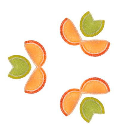 marmalade: Fruit pattern of marmalade sweets isolated on white background.