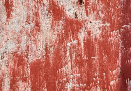 Texture on old wall with red paint with copy space Stock fotó