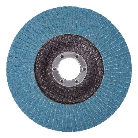 Petal abrasive disc for grinding machine on a white background