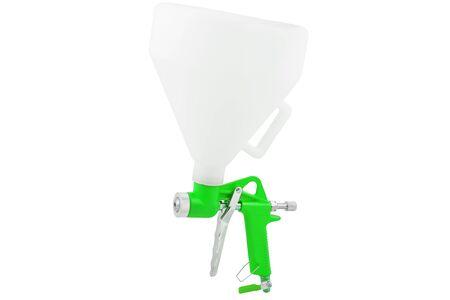 Green spray gun isolated on white background