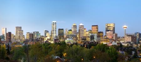 calgary: Panorama of modern dowtown - Calgary, Alberta Stock Photo