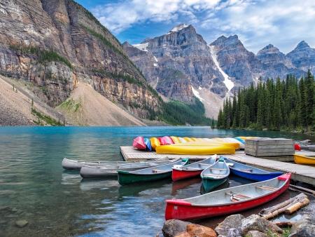 Moraine Lake - an Iconic Canadian Lake photo