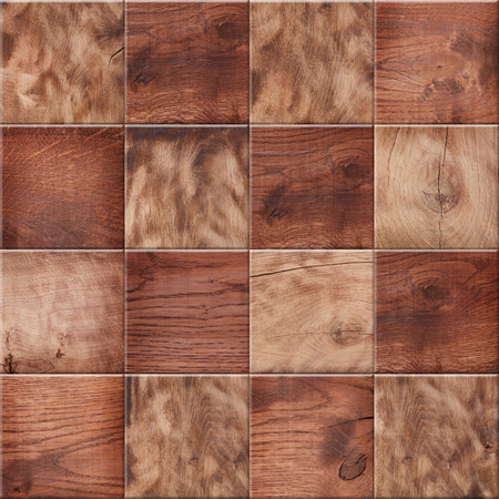 tiled floor: Wooden background, squares in a checkerboard pattern