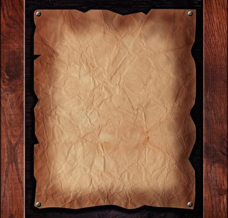 oud papier met houten planken