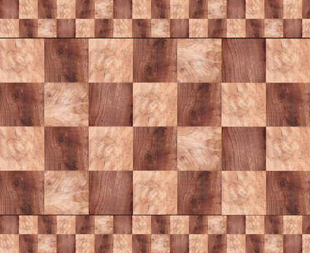 checkerboard: Wooden background, squares in a checkerboard pattern