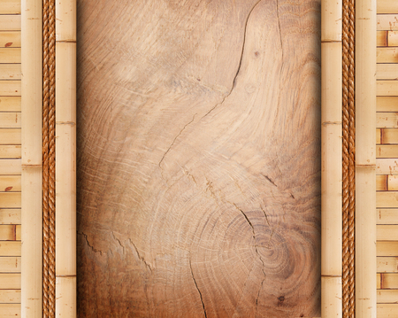 bamboo frame: wood board with bamboo frame