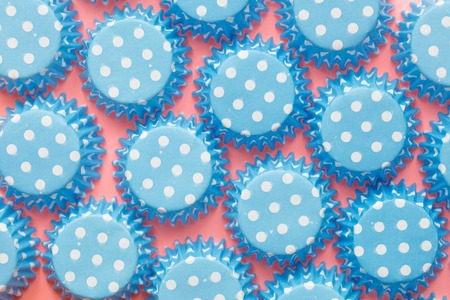 dot surface: Abstract Blue Dot Bubble on Blue Carton Paper Surface Seamless Pattern Background Texture
