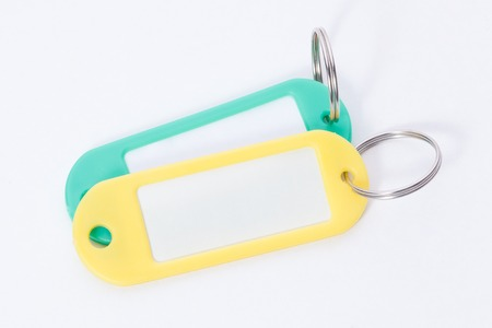 fob: Colorful two key fob Stock Photo