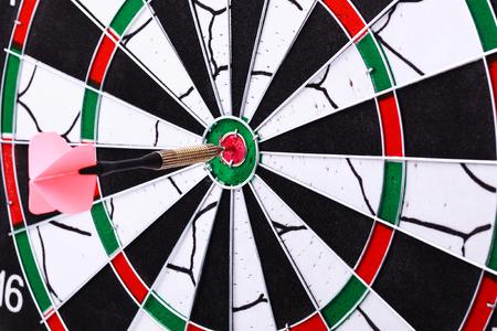 bull     s eye: Dart hit the target on dartboard
