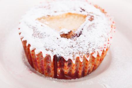 powdered sugar: Muffins sprinkled with powdered sugar