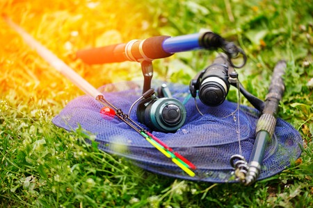 fishing rods: Fishing rods and tackle for fishing