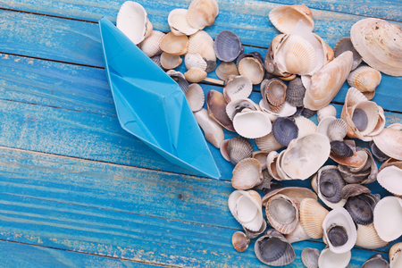 Paper Boat with shells