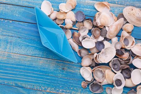 sailingboat: Paper Boat with shells