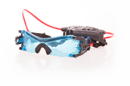 keek: Spy glasses with night vision isolated on white