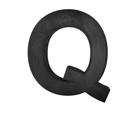 q: 3D decorative wooden Alphabet, capital letter Q