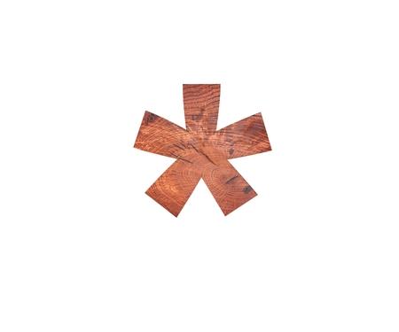 multiplicacion: Decorativo de madera símbolo dígitos multiplicación suma cantar. Ilustración de la representación 3d. Aislado en el fondo blanco Foto de archivo