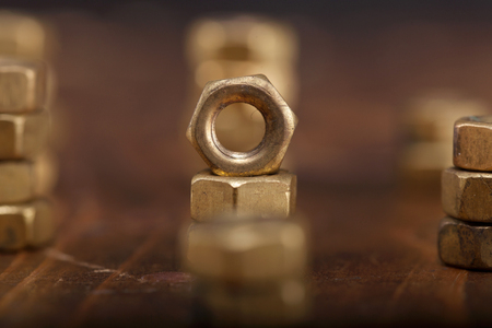 Background of a Screw nuts. Stockfoto