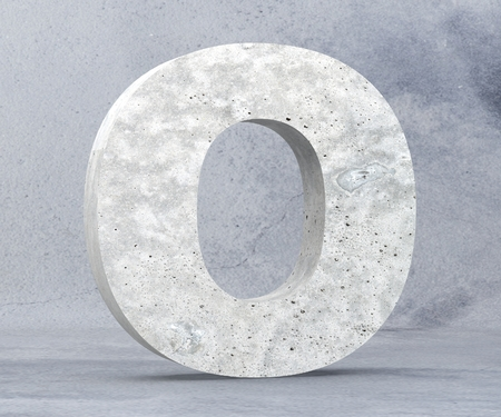 Concrete Capital Letter - O